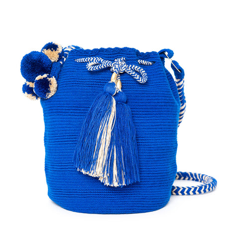 Royal Woven Mochila Bucket Bag - Main
