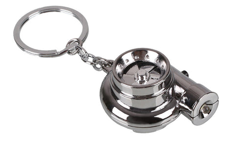 Tuned. Electric Turbo Keyring (Chrome)