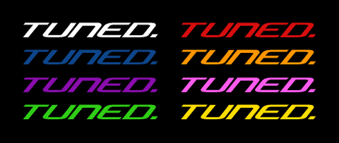 Tuned. Sticker (Assorted Colours)