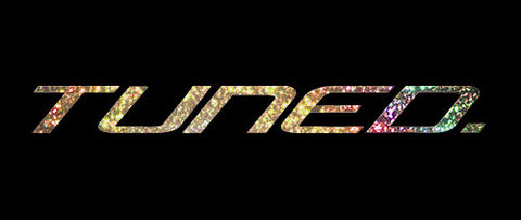 Tuned. Sticker - Gold Flake