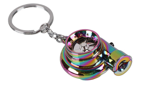 Tuned. Electric Turbo Keyring (Neochrome)