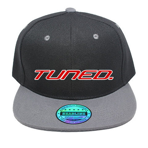 Tuned. Snapback - Black & Grey
