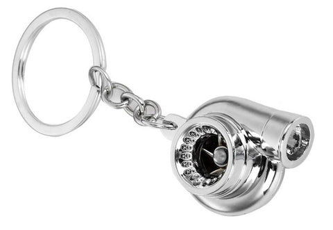 Tuned. Turbo Keyring (Chrome)