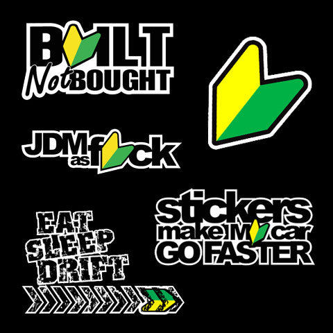 JDM AS F*CK Sticker Pack