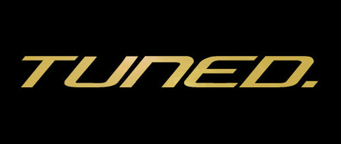 Tuned. Sticker - Metallic Gold
