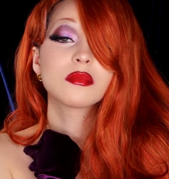 Jessica Rabbit Transformation Makeup Tutorial by Jbunzie