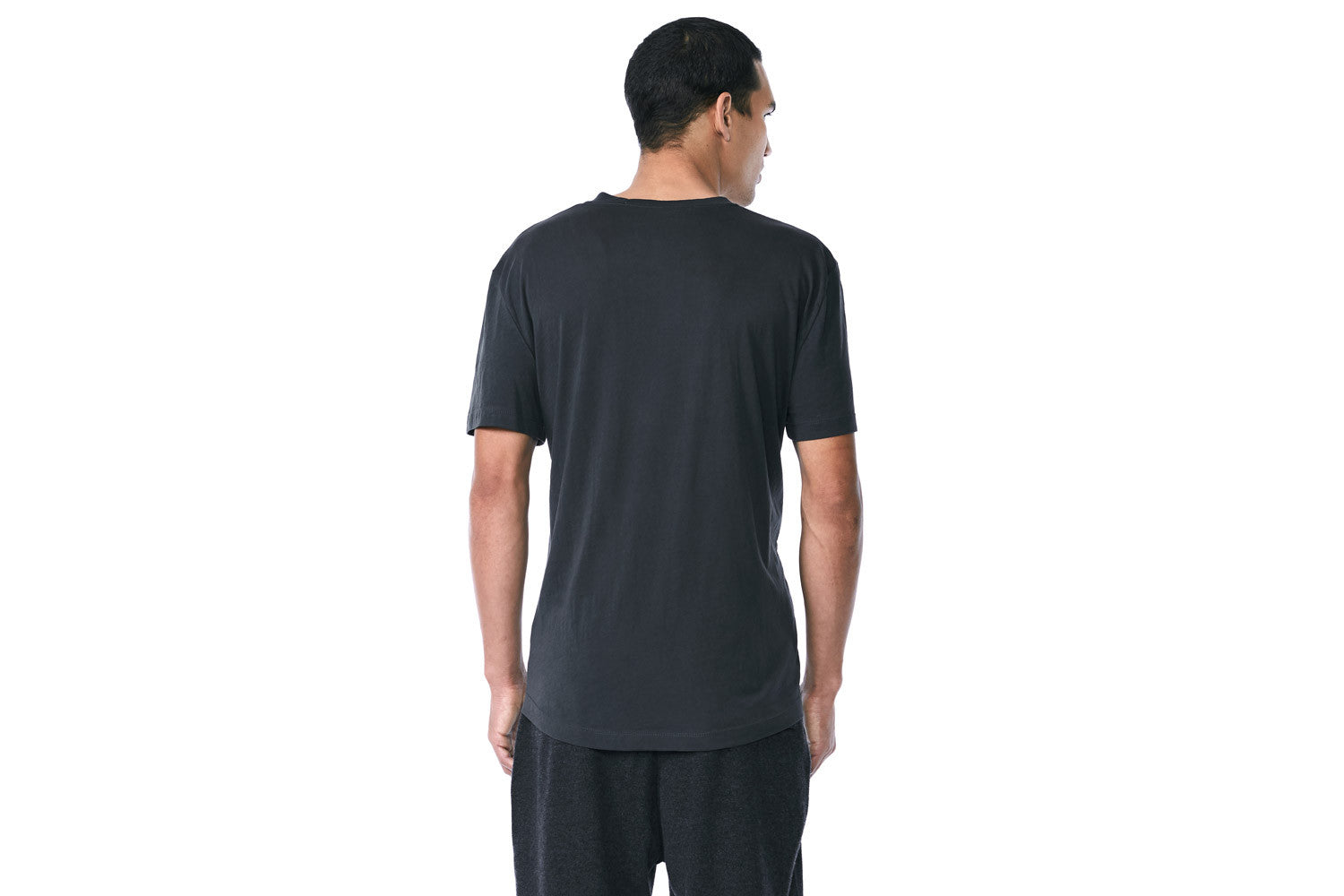 Franklin - Crew Neck Tee (Washed Black)