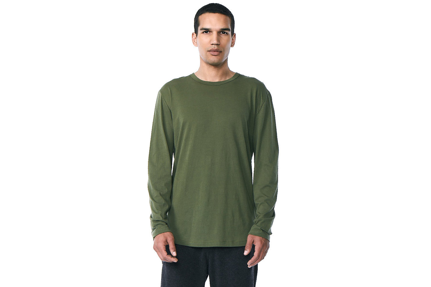 Franklin - Long Sleeve Crew Neck Tee (Military)