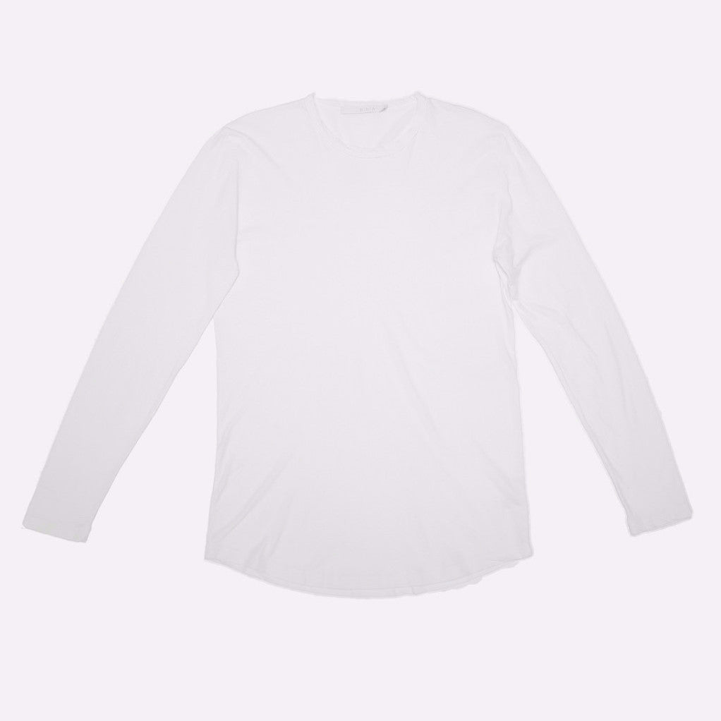 Franklin - Long Sleeve Crew Neck Tee (White)