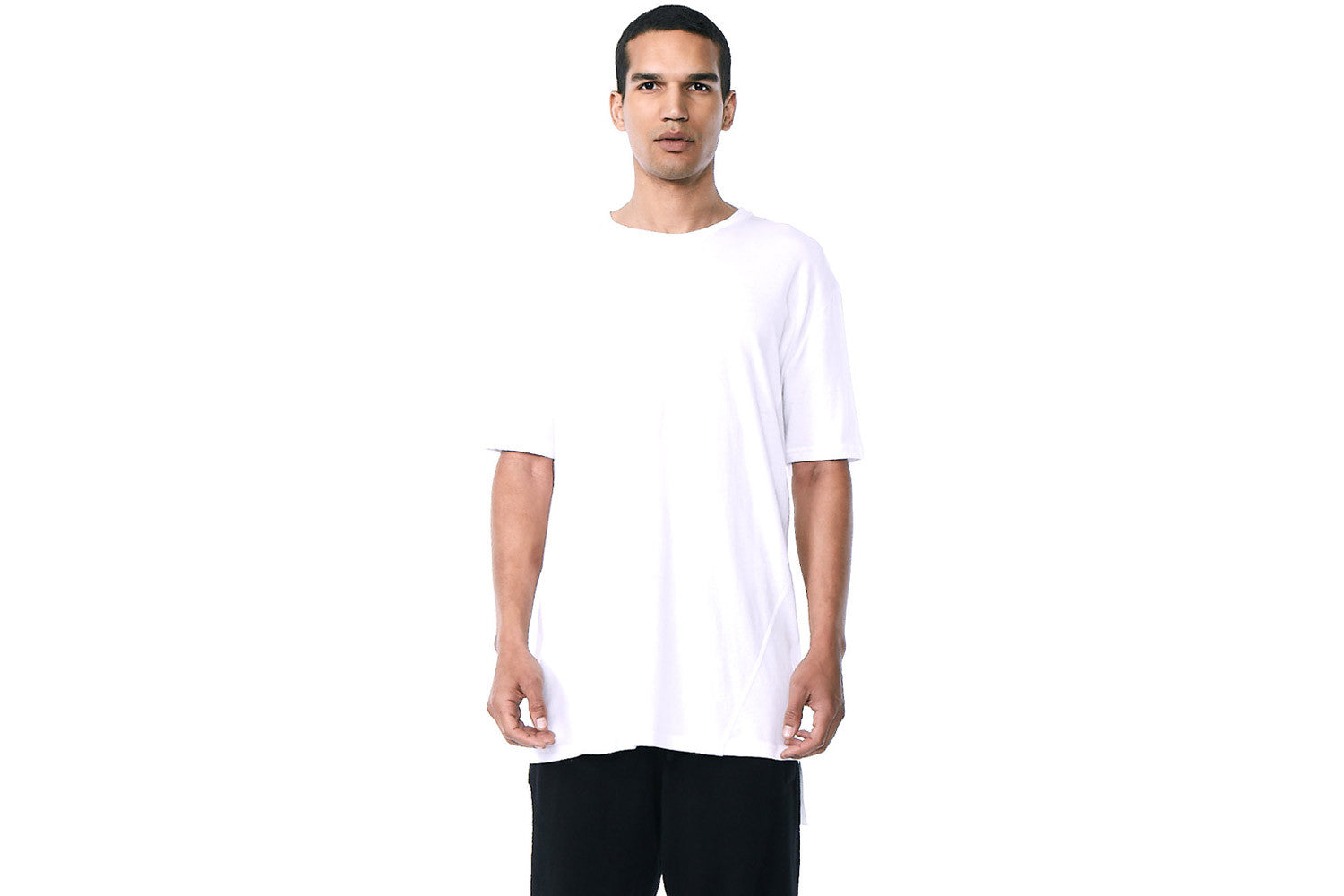 Tyson - Short Sleeve Crew Neck Tee  (White)