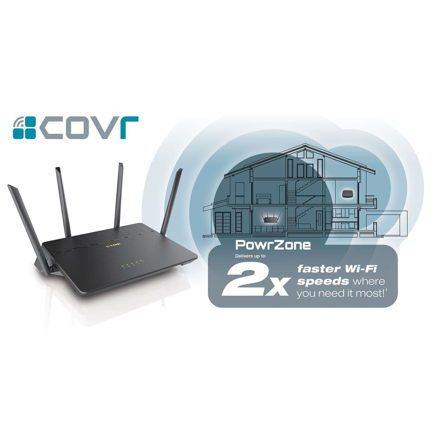 D-LINK Covr AC3900 Whole Home Wi-Fi Mesh System (COVR-3902) - Black
