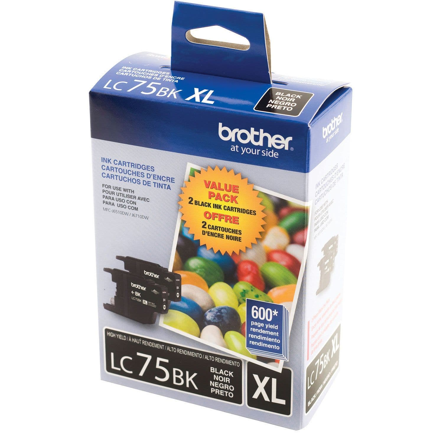 Printers Ink Wisetech Inc Tinta Catridge Hp 950 Xl Black Original Brother Lc75bk 2 Pack