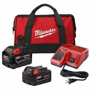 Milwaukee M18 18V Li-Ion Starter Kit: 9.0 Ah Battery, 5.0 Ah Battery & Charger - WiseTech Inc