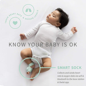 Owlet Smart Sock 2 Baby Monitor - White/Green (OWL-BM03NNBBYC) - WiseTech Inc