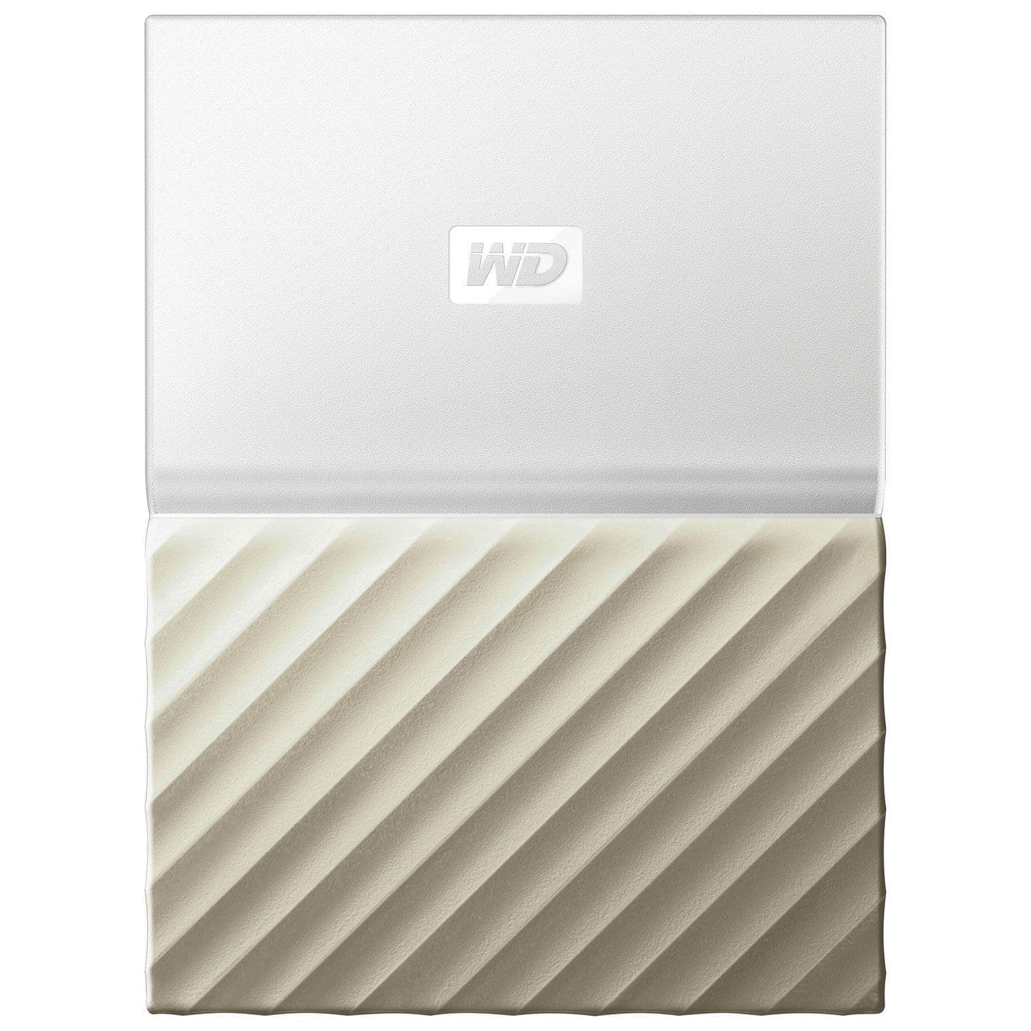 WD My Passport Ultra 2TB USB 3.0 Portable External Hard Drive  - White/Gold
