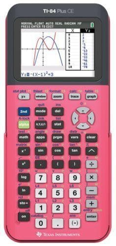 Texas Instruments TI-84 Plus CE Graphing Calculator - CORAL