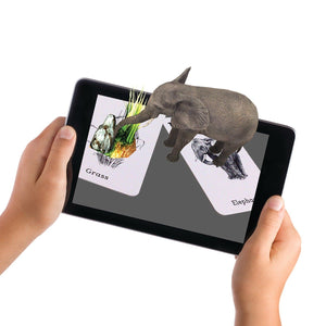 4D+ Utopia 360° Animal Zoo Augmented Reality Cards & VR Headset - WiseTech Inc