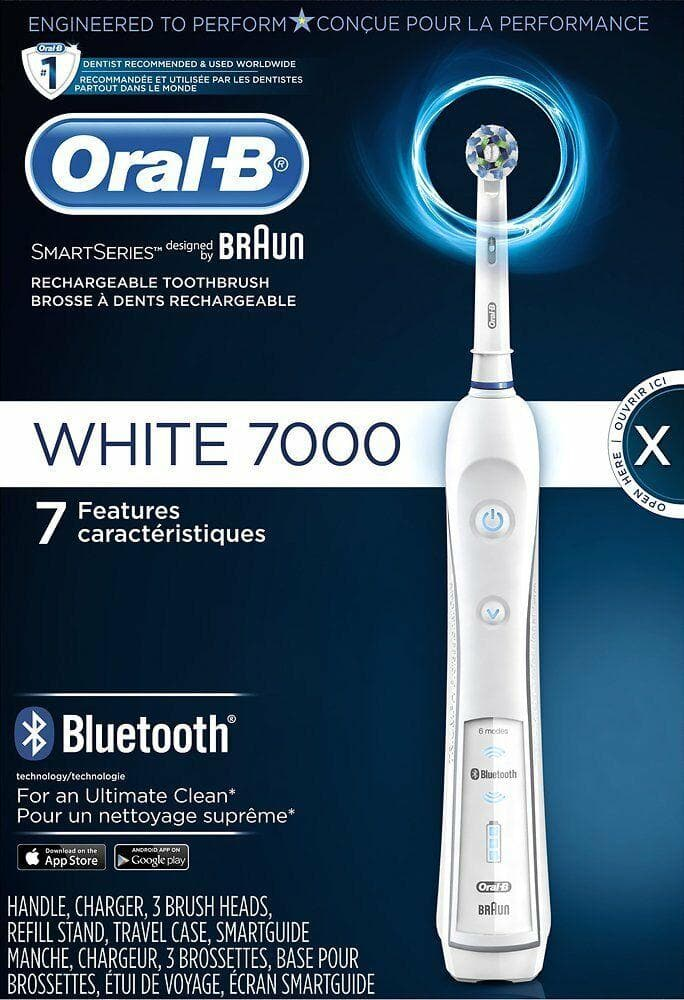 Oral-B - 7000 Electric Connected Toothbrush - White - WiseTech Inc