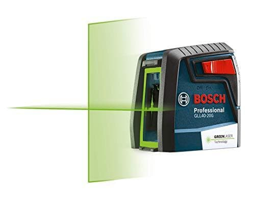 Bosch Green-Beam Self-Leveling Cross-Line Laser (GLL40-20G) - WiseTech Inc
