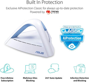 Asus Lyra Trio AC5250 Dual-Band MU-MIMO Mesh Wi-Fi System with AiProtection Security – 3 Pack - WiseTech Inc