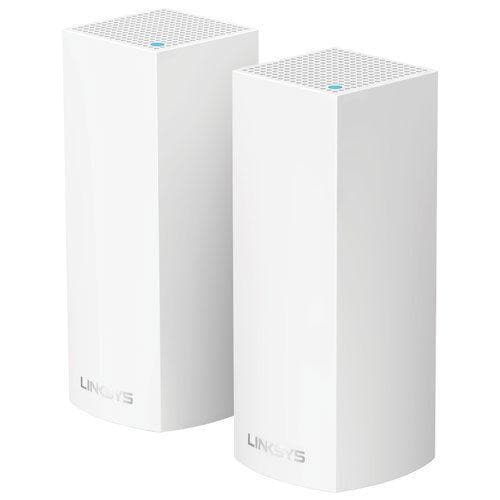 Linksys Velop Wireless AC4400 MU-MIMO Mesh Whole Home Wi-Fi System (WHW0302-CA)