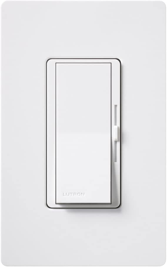 Lutron DVCL-153P-WH-3 Diva 150W Single-Pole/3way LED Dimmer Switch White (3 Pack)