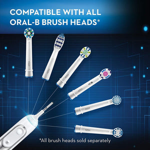 Oral-B Pro 6000 Smart Series Power Rechargeable Electric Toothbrush - White - WiseTech Inc