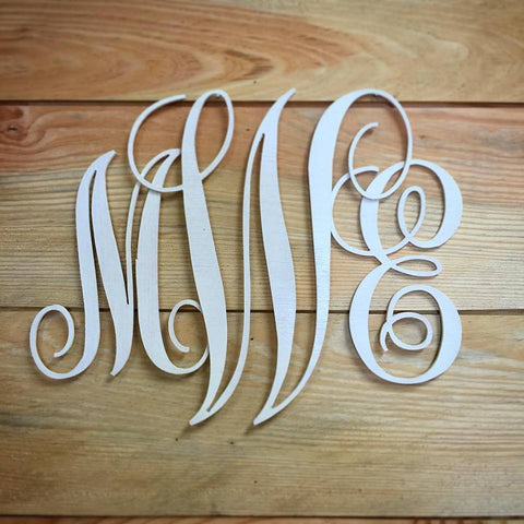 Handmade Wooden Personalized Monogram Wall Decor - The Carpenter's Shop