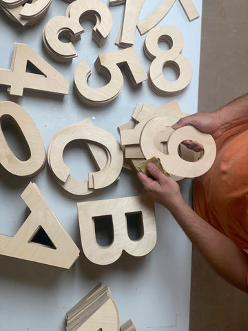 8'' Large Wood Letters made from 1/2 Plywood