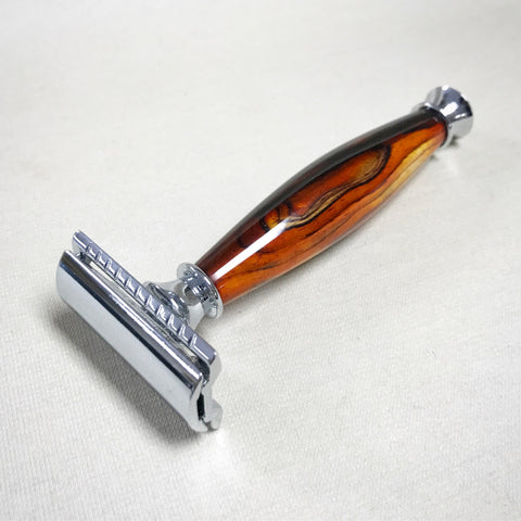 Handmade Custom Safety Razor with Cocobolo Rosewood Handle - The Carpenter's Shop