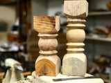 Handmade Rustic Wood Candlestick Holders