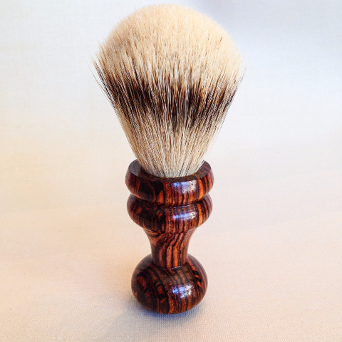 Special Handmade Silvertip Badger Hair Shaving Brush with Cocobolo Handle - The Carpenter's Shop