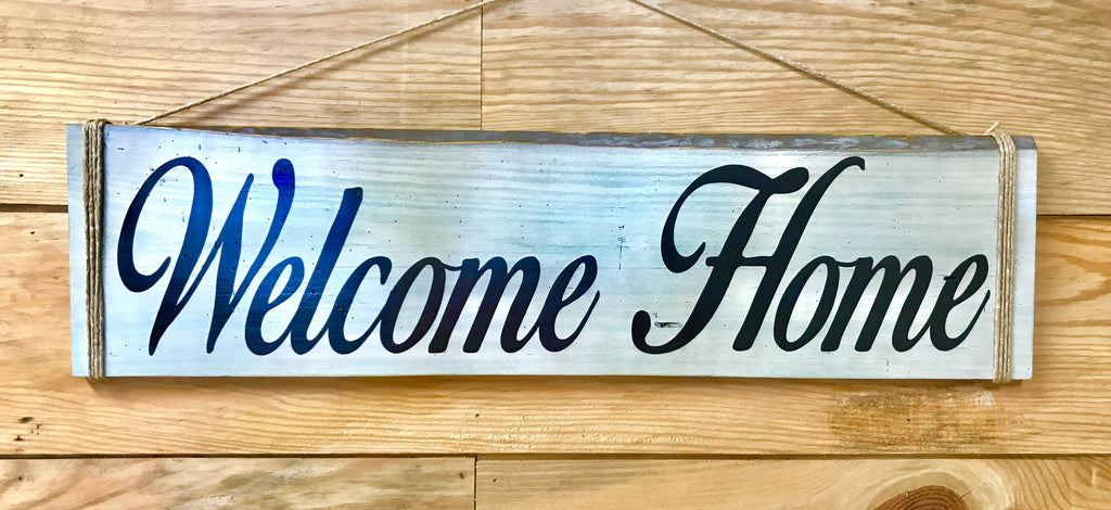 Welcome Home Beach Large Wood Sign The Carpenter S Shop