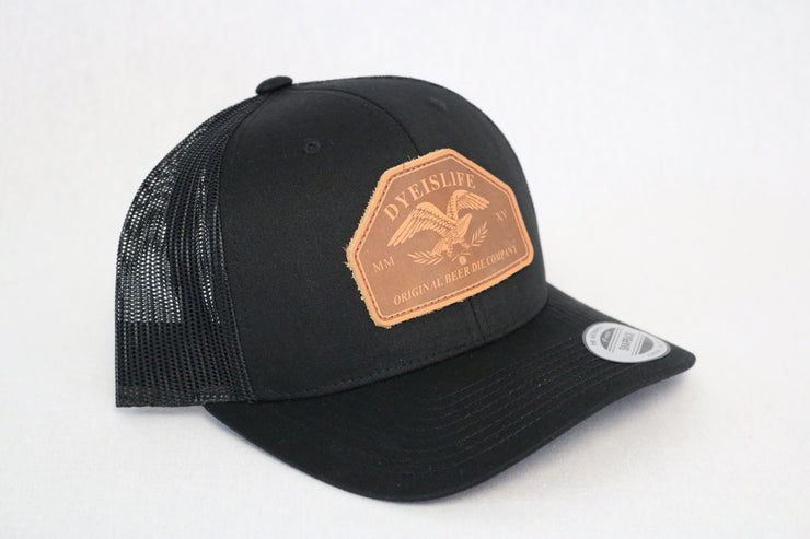Leather Eagle Trucker
