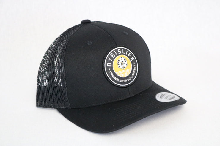 Gold/Black Die Trucker