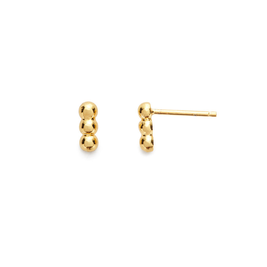 Vine stud earrings (gold)