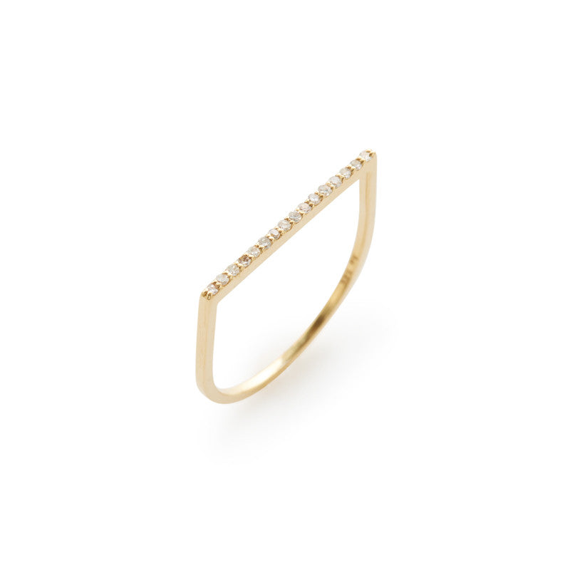Megan 14k gold + white diamond ring