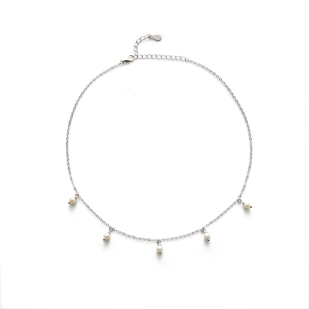 Rogers fresh water pearl necklace (gold or silver)