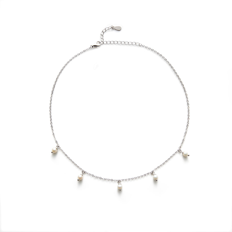 Rogers freshwater pearl choker or necklace (gold or silver)