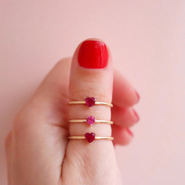 Gigi heart ring (ruby or pink sapphire)