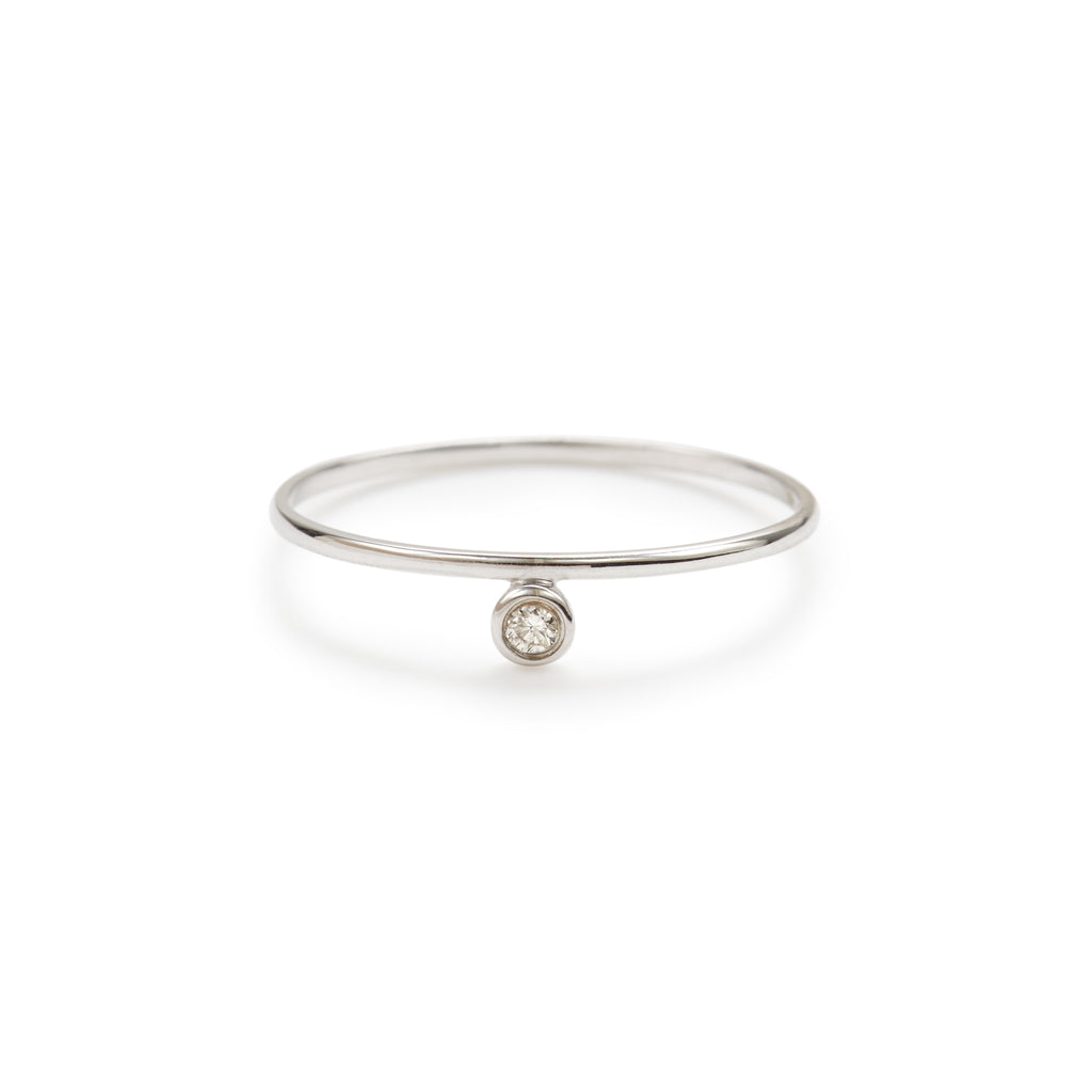 Alexa white diamond ring