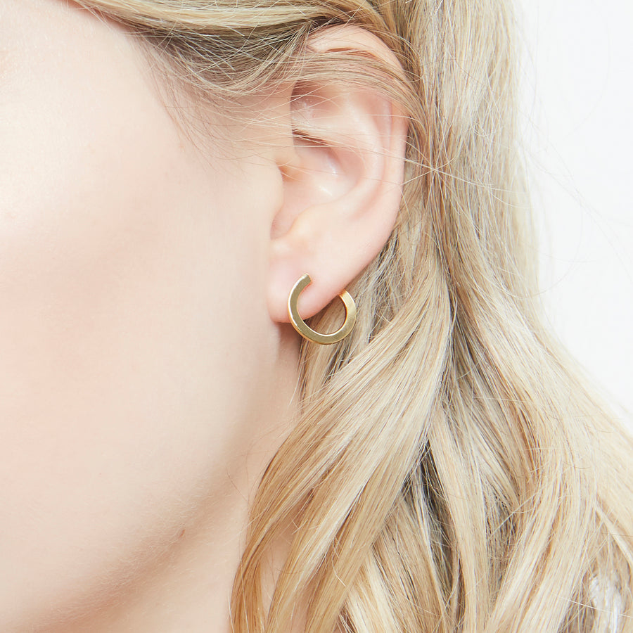 Audrey illusion earrings (gold or silver)