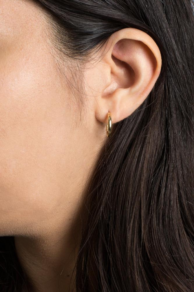 Lautner hoops (gold or silver)