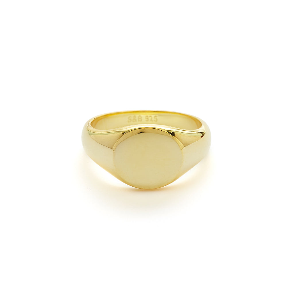 Block signet ring (gold or silver)