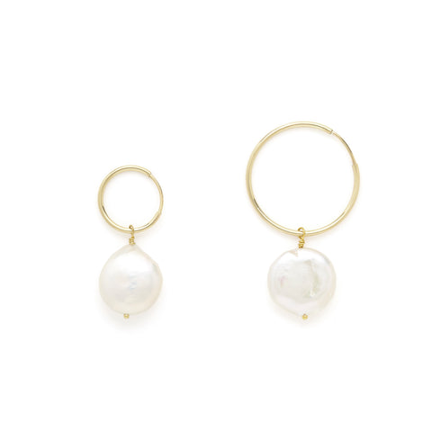 Coco fresh water pearl hoops