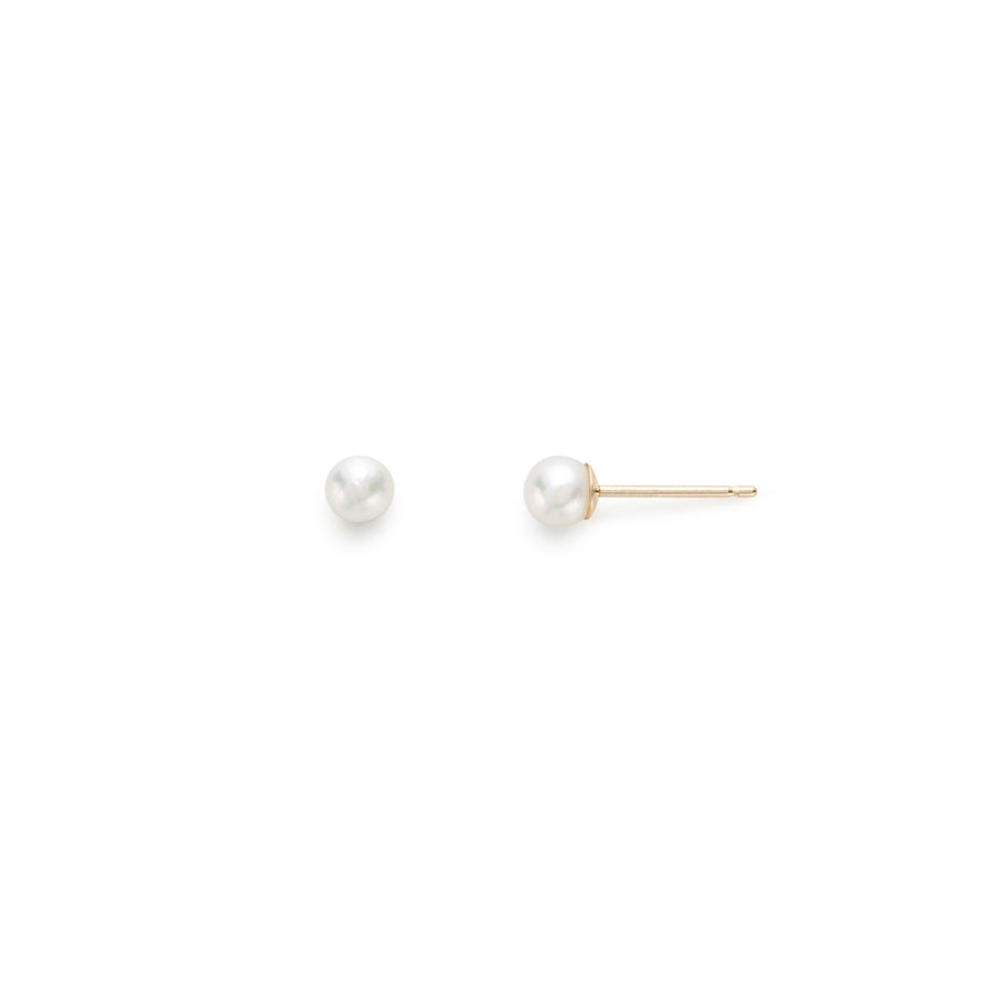 Drew Akoya pearl stud earrings