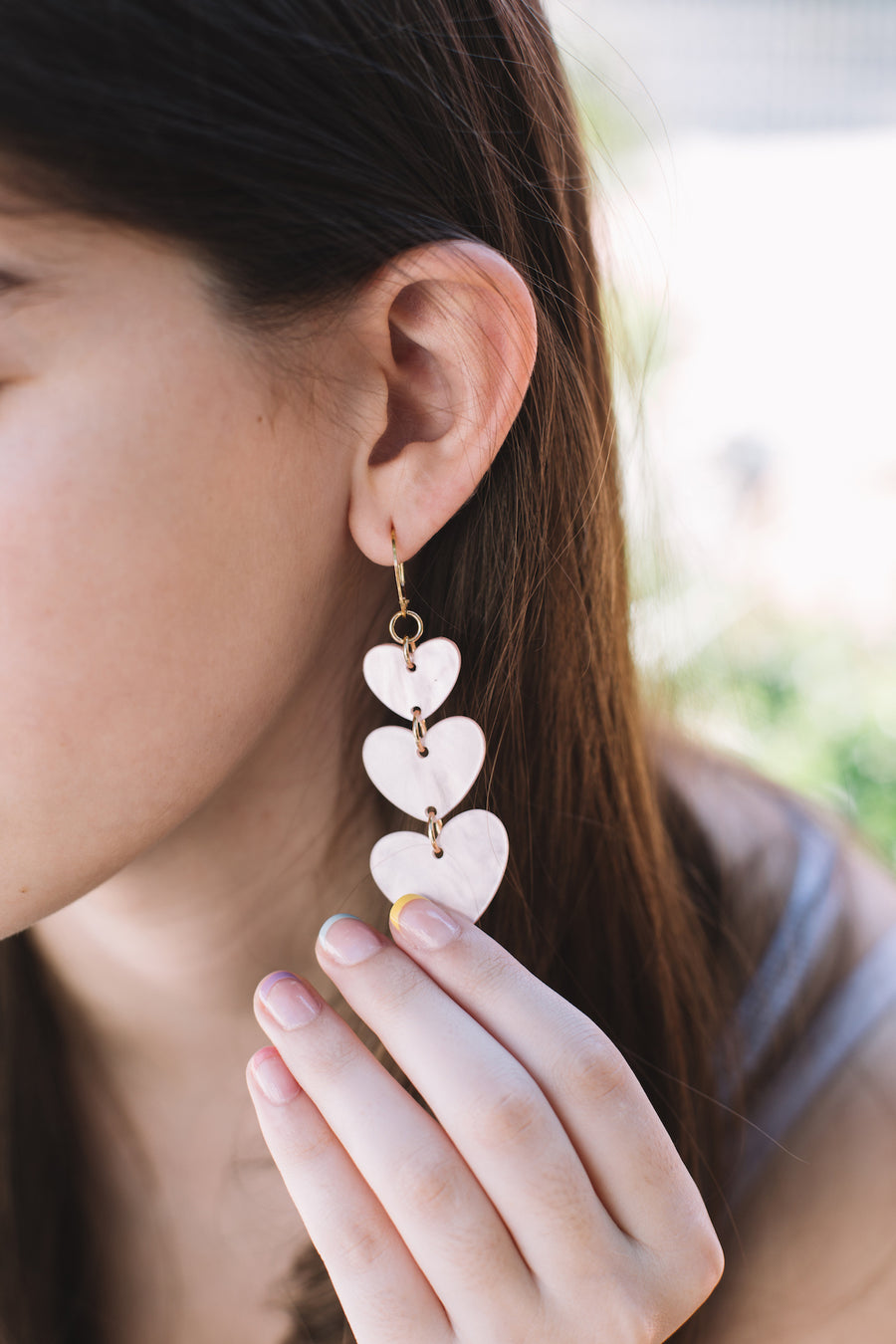 Dune heart hoop earrings
