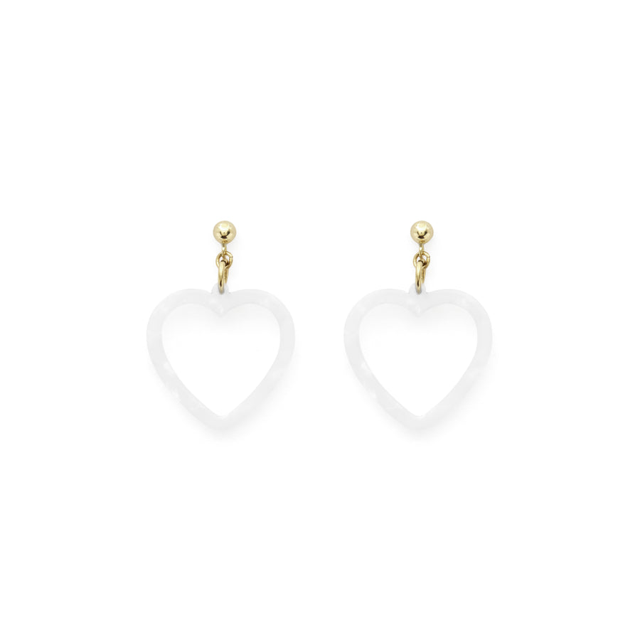 Echo heart earrings