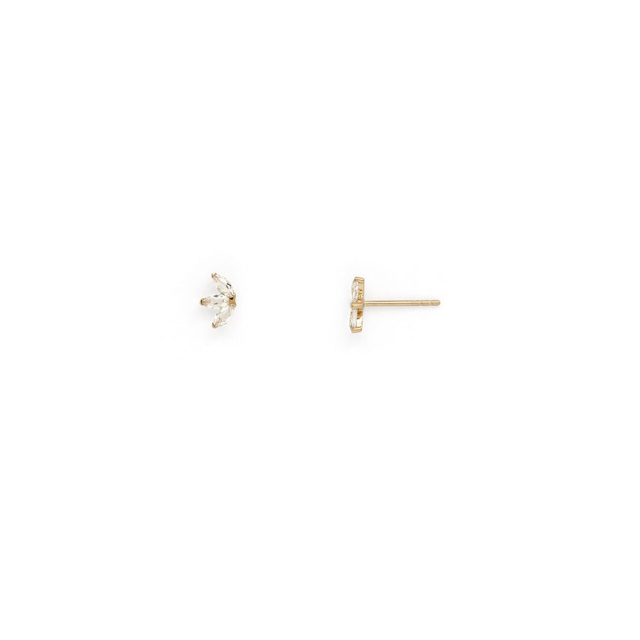 Felicia petal stud earrings