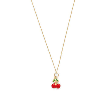 Heidi cherry necklace